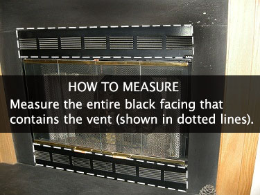 How to Measure for your Magnetic Fireplace Vent Cover